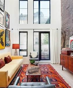 mille et une idees pour le salon style industriel en 44 With tapis berbere avec canape cuir en solde