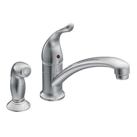 kitchen faucet side spray shop moen chateau chrome 1 handle low arc kitchen faucet