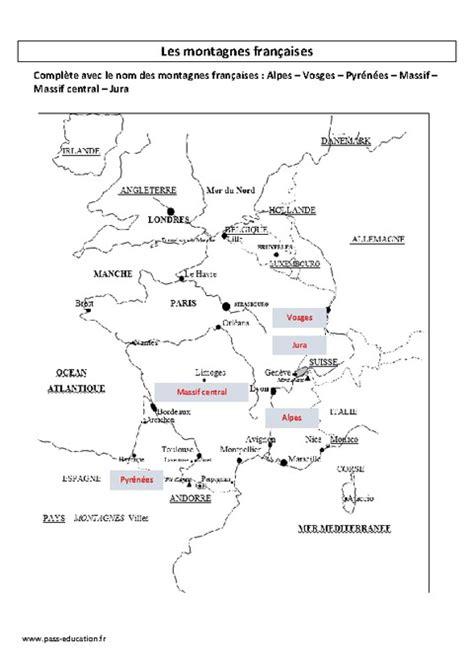 Carte De Montagne Ce1 by Montagnes Fran 231 Aises Ce2 Exercices Corrig 233 S