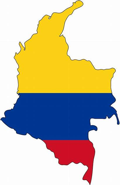 Flag Map Columbia Colombia Country Maps