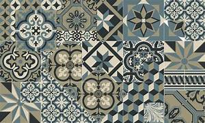 tapis vinyle carreaux de ciment leon bleu ocean With carreaux de ciment bleu