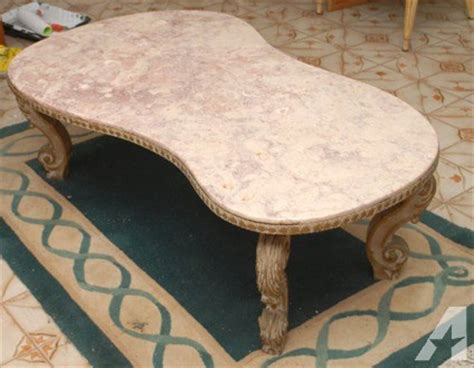 retro kidney shaped coffee table obo retro 1950 39 s italian pink marble coffee table kidney