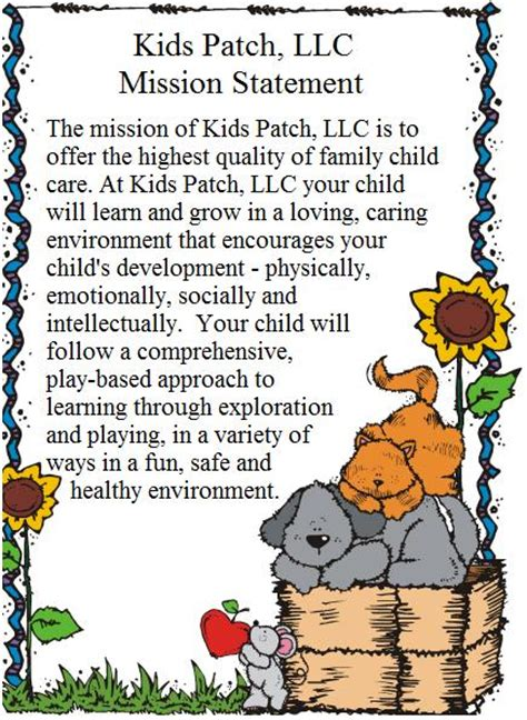 patch family child care 520 | MissionStatement