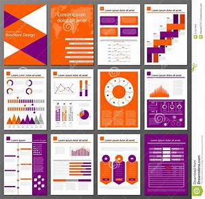 Infographic Brochure And Flyer Design Templates Set Stock ...