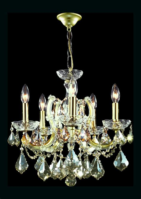 Hton Bay Theresa Chandelier by R Moder Theresa 5 Arm Chandelier Gold Lustre
