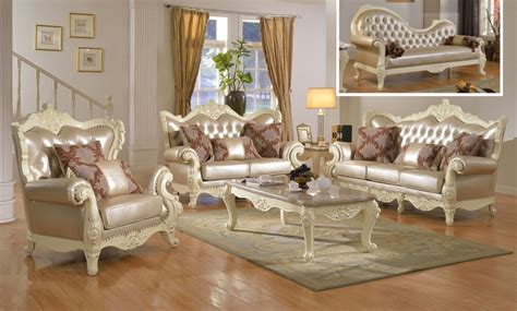 traditional living room set wpearl bonded leather
