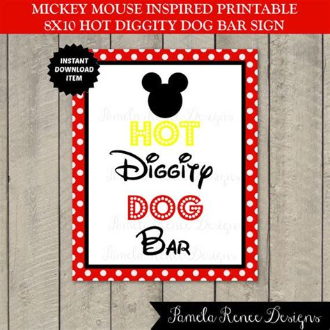 instant  mouse hot diggity dog bar sign