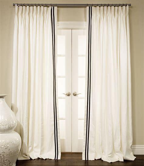 grosgrain ribbon trimmed drapes drapestyle