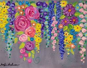 Cotton swab FLOWERS acrylic painting tutorial on Youtube ...
