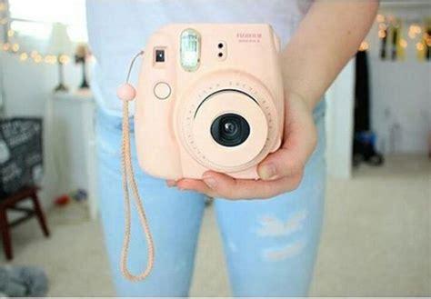 home accessory polaroid camera pink pastel fujifilm