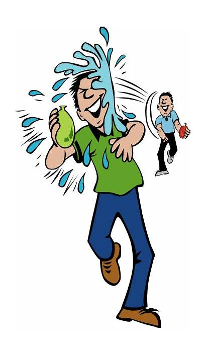 Balloon Water Clip Throw Hit Fight Clipart