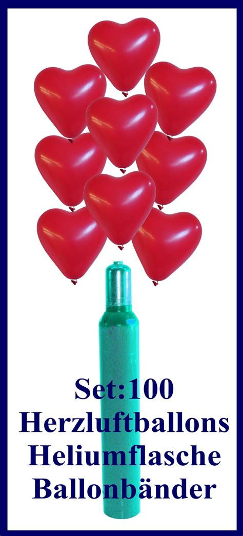 luftballon helium set luftballons helium set hochzeit 100 rote herzluftballons