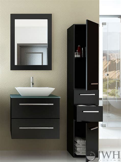 Restroom Vanity Cabinets by Jwh Living 24 Quot Single Wall Mounted Vanity