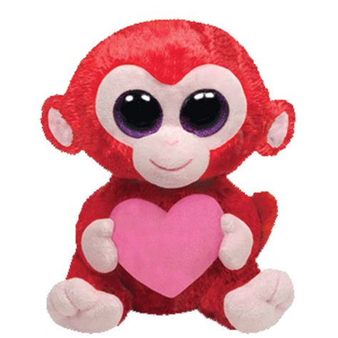 ty beanie boos charming the red monkey with heart