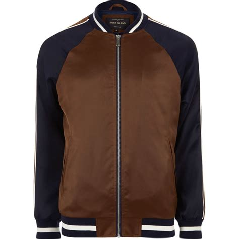 light bomber jacket mens brown two tone light bomber jacket coats jackets
