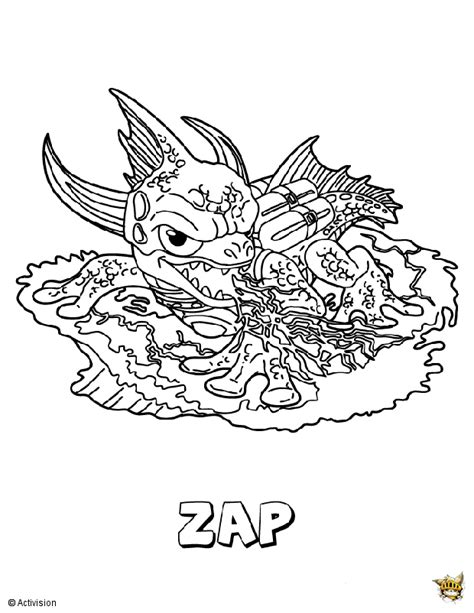 Trap 10 5 Template by Skylanders Coloring Pages Trap Team Sketch Coloring Page