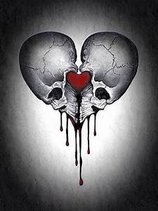 Skull hearts | Art I Heart | Pinterest