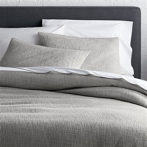 Grey King Size Duvet Cover by Lindstrom Grey Full Queen Duvet Cover Crate And Barrel