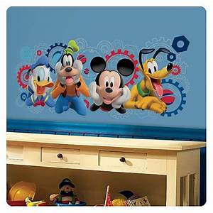 mickey mouse clubhouse capers giant wall decal roommates With mickey mouse clubhouse wall decals