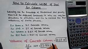 Calculate Weight Of Steel In Column Steel Weight