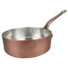 leon jaeggi sons   copper saute pan saucepan vintage copper antiques copper
