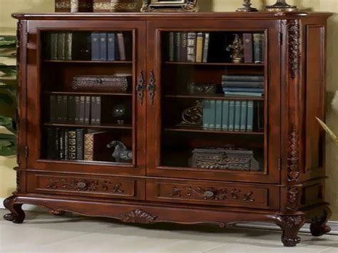 Large Bookshelf With Doors by Revolving Bookcase Antique Antique Bookcases With Glass