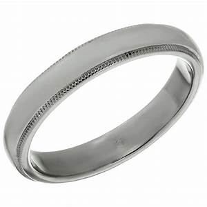 Tiffany and co platinum milgrain men39s wedding band ring for Wedding ring companies