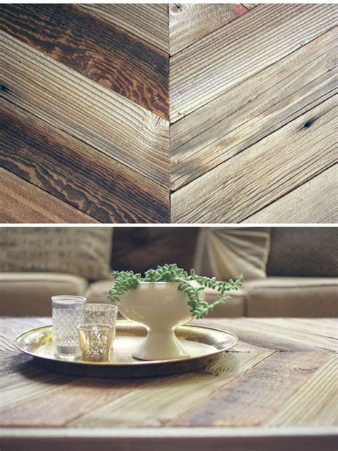 diy herringbone barn wood coffee table wit whistle