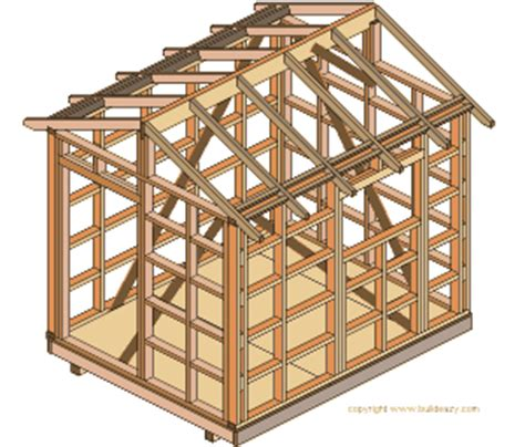 8x6 storage shed plans 8x6 shed plans how to build diy by