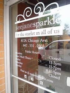 items similar to custom business hours store window vinyl With custom store window lettering