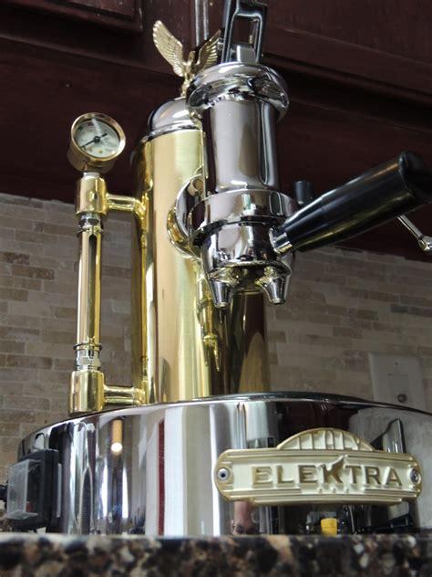 elektra espresso machine elektra micro casa chrome brass lever espresso machine