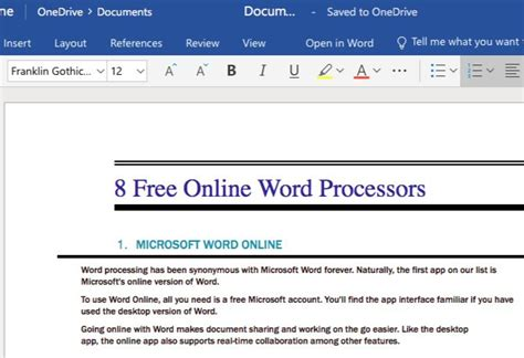 The 8 Best Free Online Word Processors | Words, Word ...