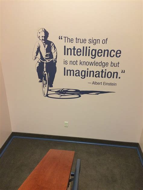 quot the true sign of intelligence is not knowledge but imagination quot albert einstein this quote