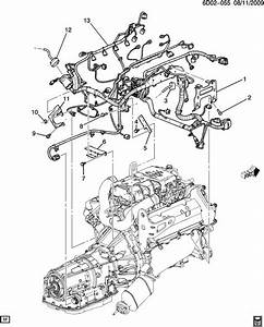Cadillac Sts Bracket  Chassis  Engine Wiring Harness