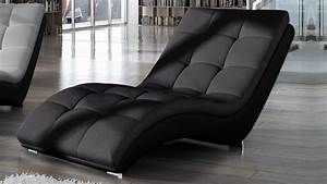 Tissu Chaise Longue : fauteuil de relaxation capitonn tissu et simili cuir kan gdegdesign ~ Teatrodelosmanantiales.com Idées de Décoration