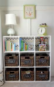 Decorating Bookshelves With Baskets by Organizing With Baskets The Creative