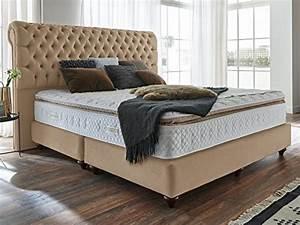 Boxspringbett Beige 180x200 : boxspringbett 180x200 beige velour montana hotelbett doppelbett matratze topper modern luxusbett ~ Indierocktalk.com Haus und Dekorationen