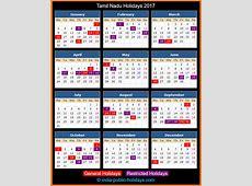 Tamil Nadu Holidays 2017