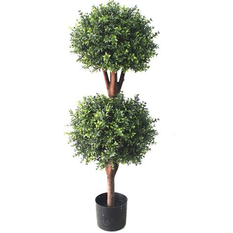 Deluxe Double Boxwood Ball Topiary Tree From Evergreen Direct