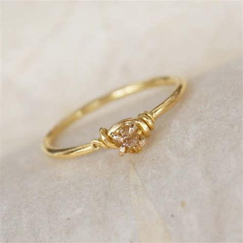 handmade engagement ring 18k solid gold ring