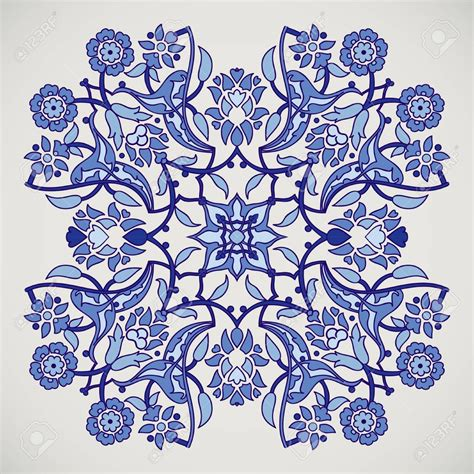 arabesque vintage elegant floral decoration print