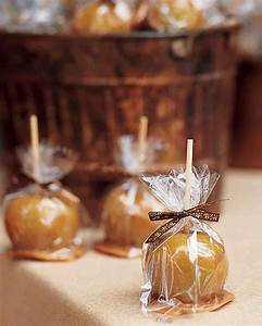 34 festive fall wedding favor ideas martha stewart weddings With caramel apples wedding favors