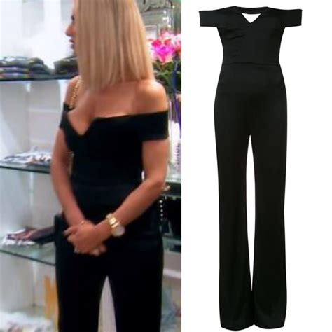 dorit kemsleys black   shoulder jumpsuit real