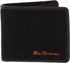 Ben Sherman Ben Sherman Canvas Wallet In Black For Men Lyst