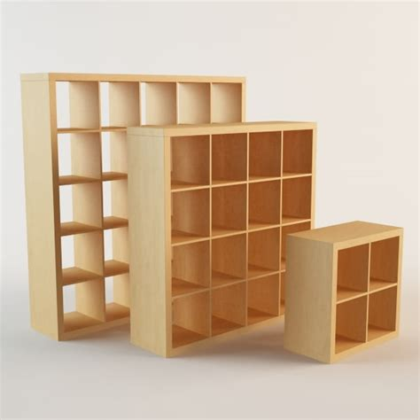 Ikea Expedit 4x4 by Expedit 2x2 4x4 5x5 3d 3ds