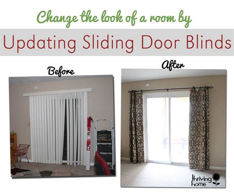 Bed Bath And Beyond Double Drapery Rod by An Easy Way To Update A Sliding Door Blind Thriving Home