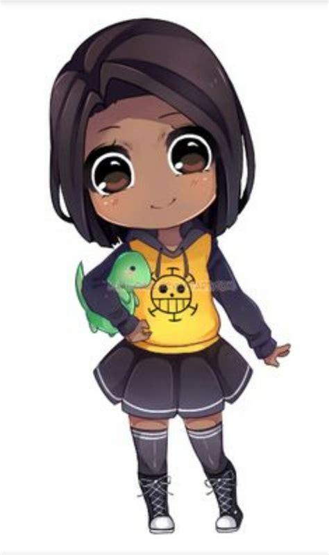 image result  chibi black girl cute anime art girl