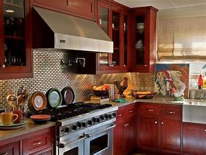 kitchen cabinet paint colors pictures ideas from hgtv With kitchen colors with white cabinets with red and cream wall art