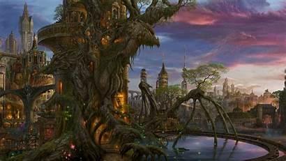 Fantasy Castle Building Background Epic Wallpapers Draculas