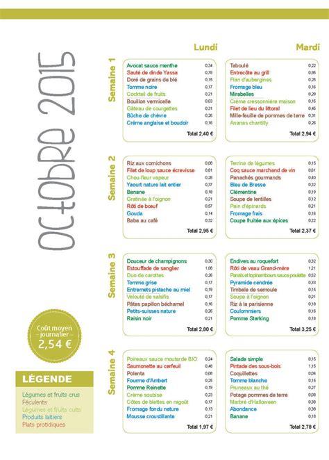 menu cuisine collective menu santé le cuisinier octobre 2015 vici